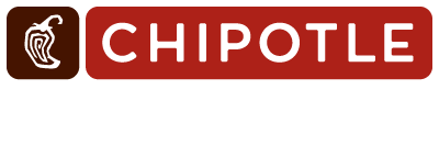"Artwork of the ""Chipotle For Real"" Logo. It featured the primary horizontal logo for chipotle with the text ""for real"" placed underneath in a white brush font."