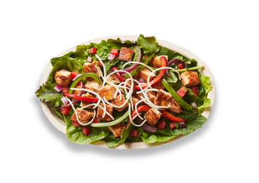 An overhead photo of a Chipotle Salad Bowl
